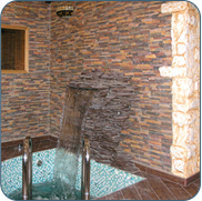 Фото бетонной купели с холодной водой