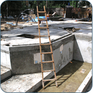 Фото как построить бассейн из бетона