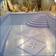 Фото мозаичного панно в бассейне