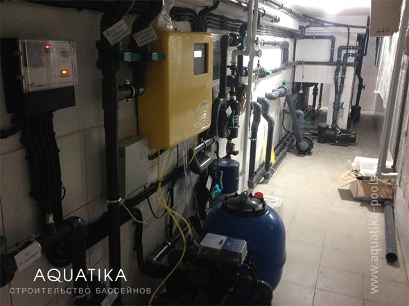автоматическая система промывки фильтра OSF и автоматическая станция дезинфекции Dinotec