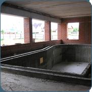 фото как построить переливной бассейн