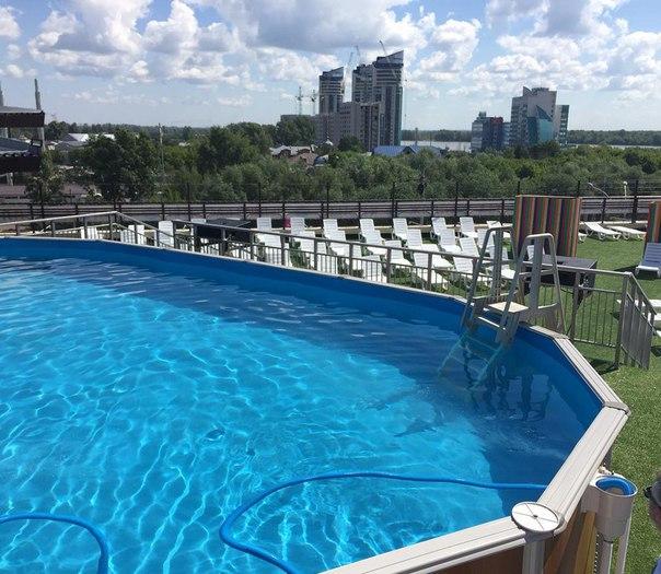 строительство бассейнов на крыше