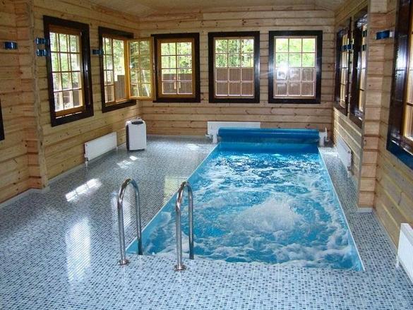 бетонный бассейн в частном доме