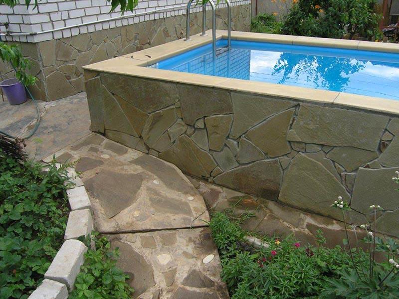 бетонная акватория в частном доме