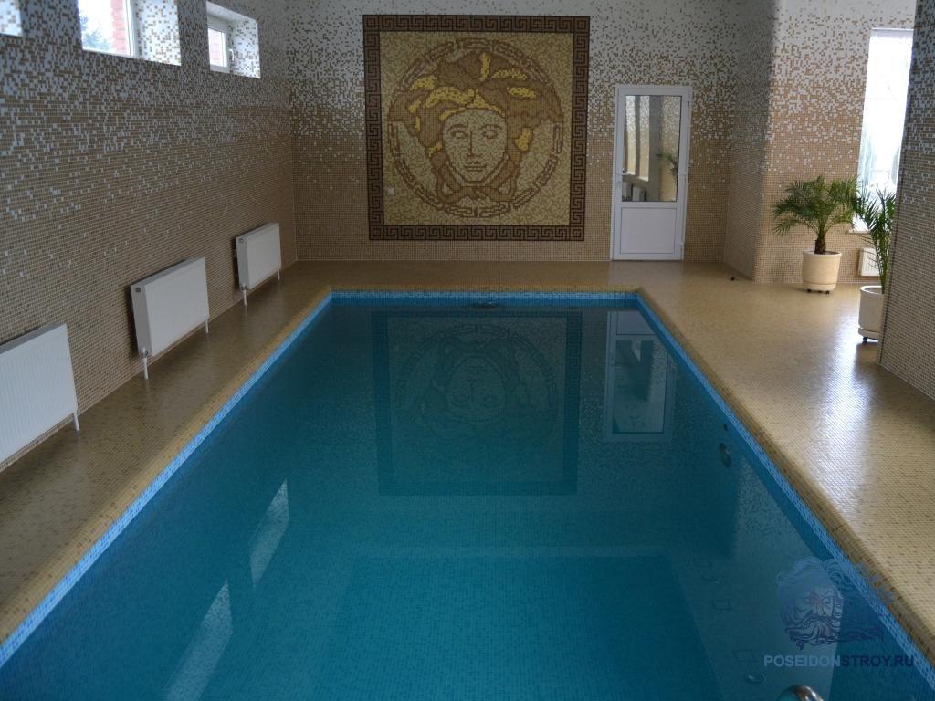 бетонный бассейн в доме