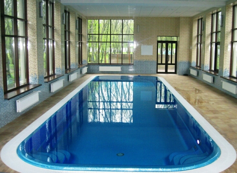 бассейн в деревянном доме