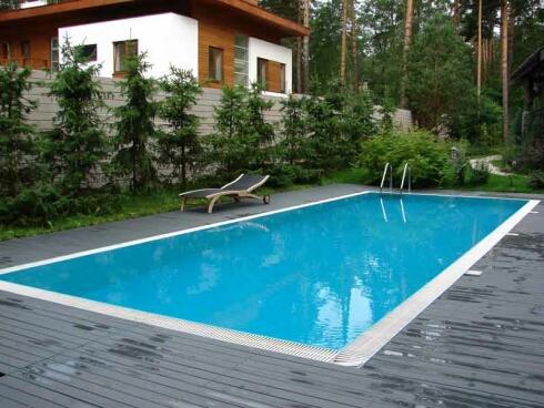 пристройка бассейна к дому