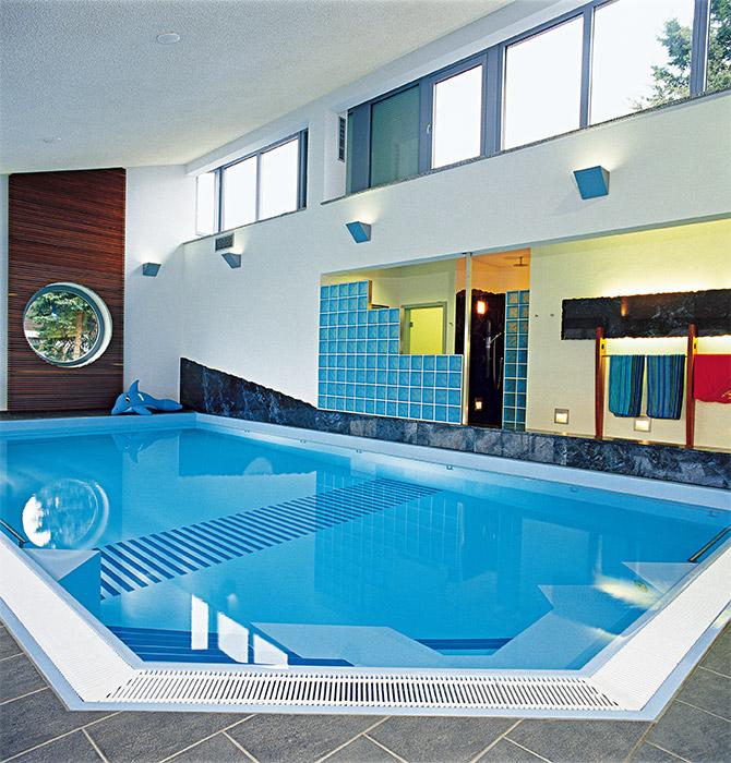 плавательный бассейн в частном доме